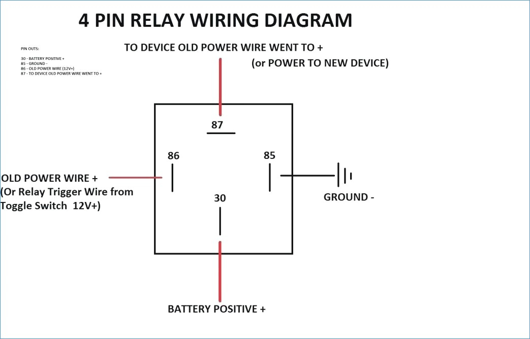 12 Volt Relay Wiring Diagram Sample