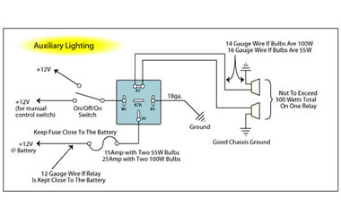 12 volt relay wiring diagram Collection-techecma99 auxlights 13-h