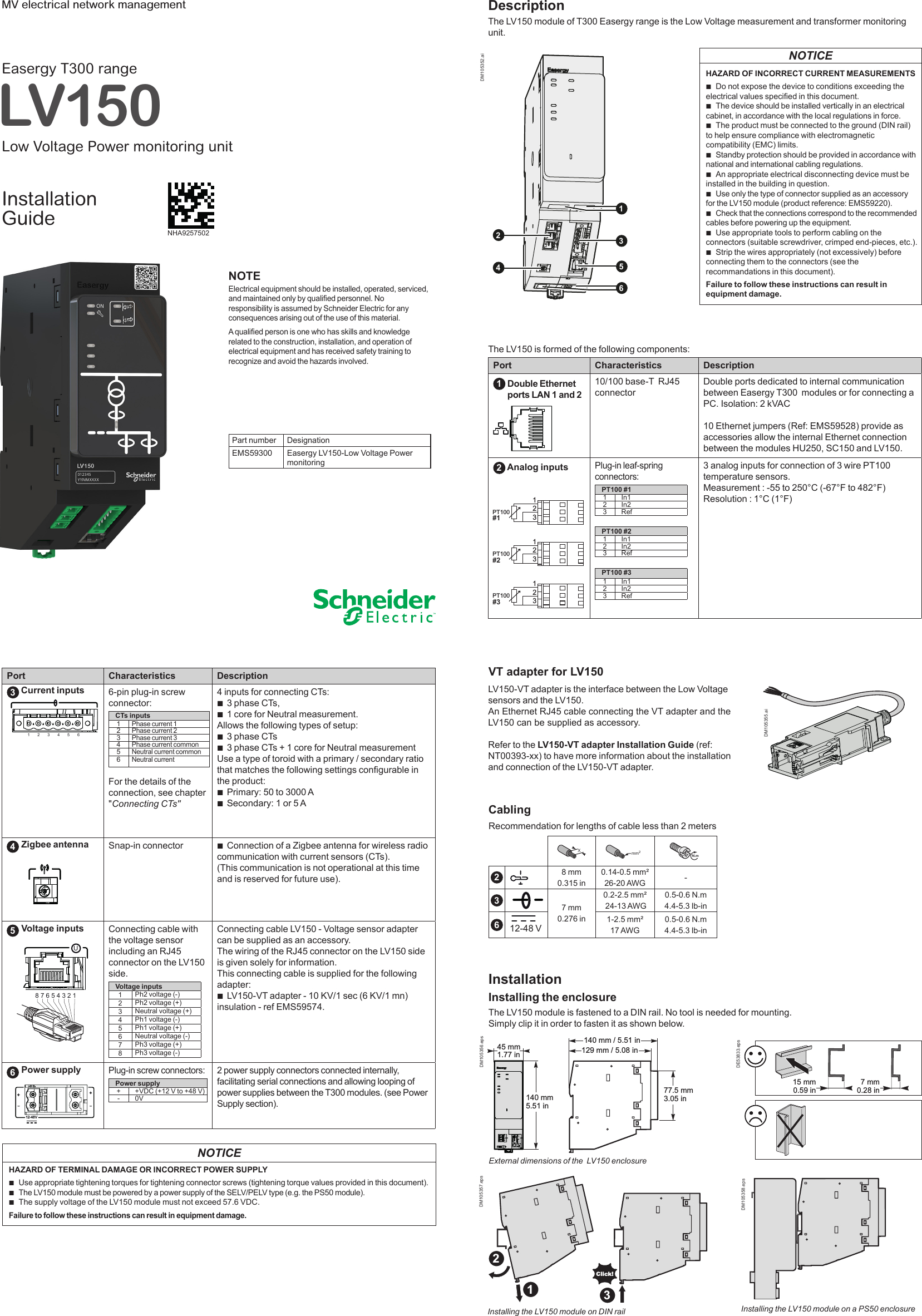 12s meter wiring diagram Collection-Page 1 of EASERGYLV150 Easergy LV150 Low voltage Power meter User Manual SCHNEIDER ELECTRIC INDUSTRIES FRANCE 2-e