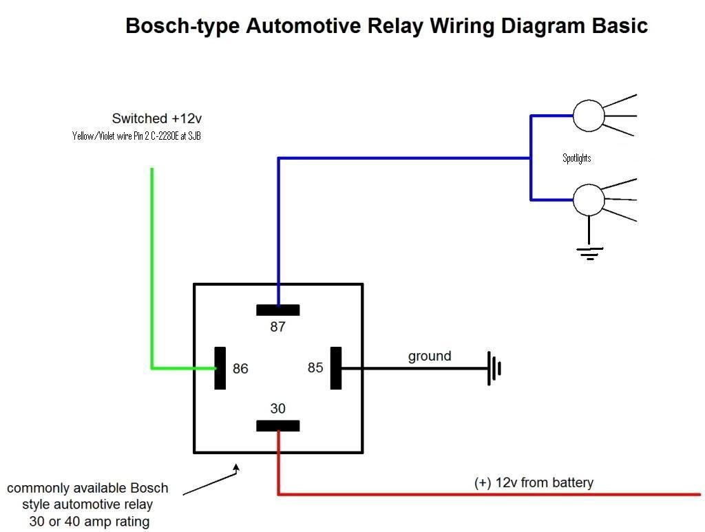 wire diagram relay wiring diagrams schematics rh diventare co Image  Spotlight Up Lighting Image Spotlight Up Lighting