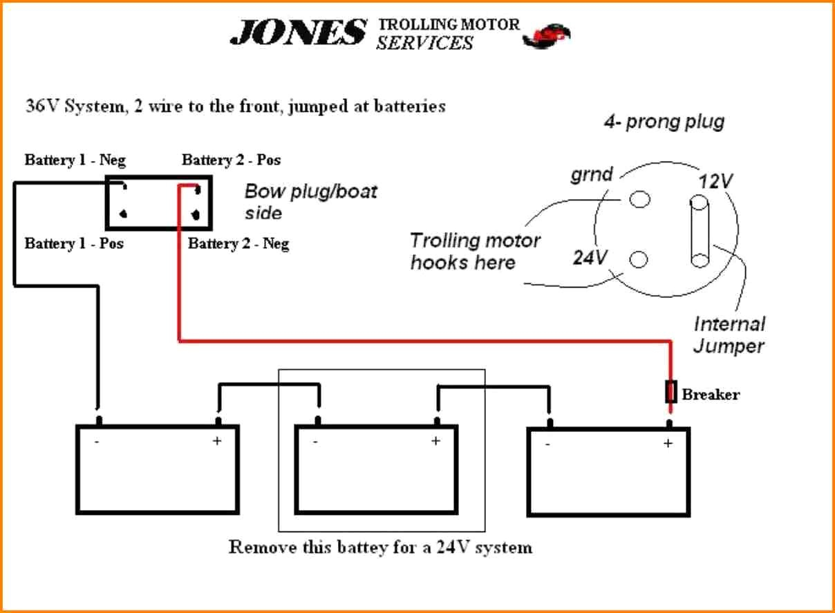 12v trolling motor wiring diagram Collection-5 12 24 Volt Trolling Motor Wiring Diagram Car Cable 20-o