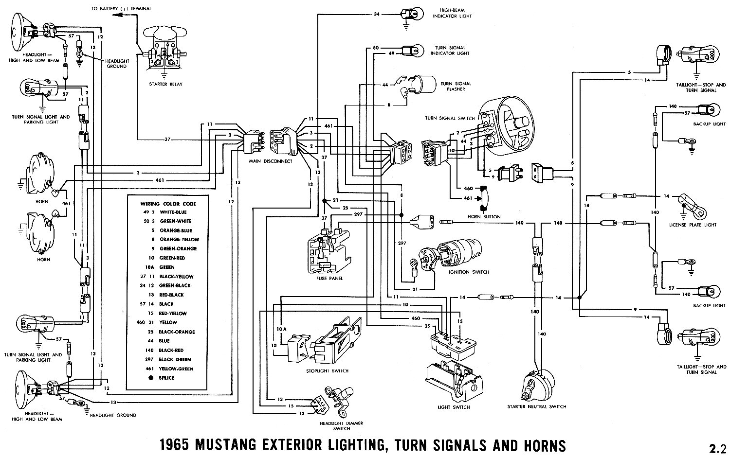 1965 ford mustang wiring diagram Collection-1965 Mustang Wiring Diagram 14-i