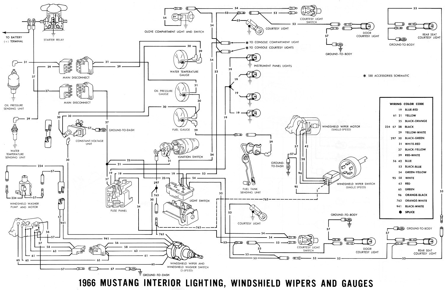 1965 Ford Mustang Wiring Diagram Gallery Sample Collection 1966 Interior Lighting Windshield Noticeable