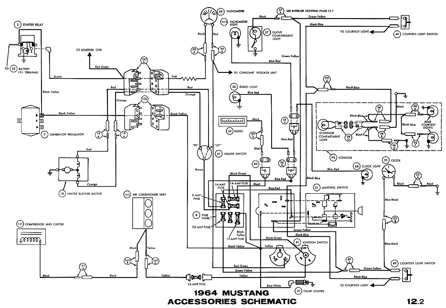 65 mustang column wiring diagram