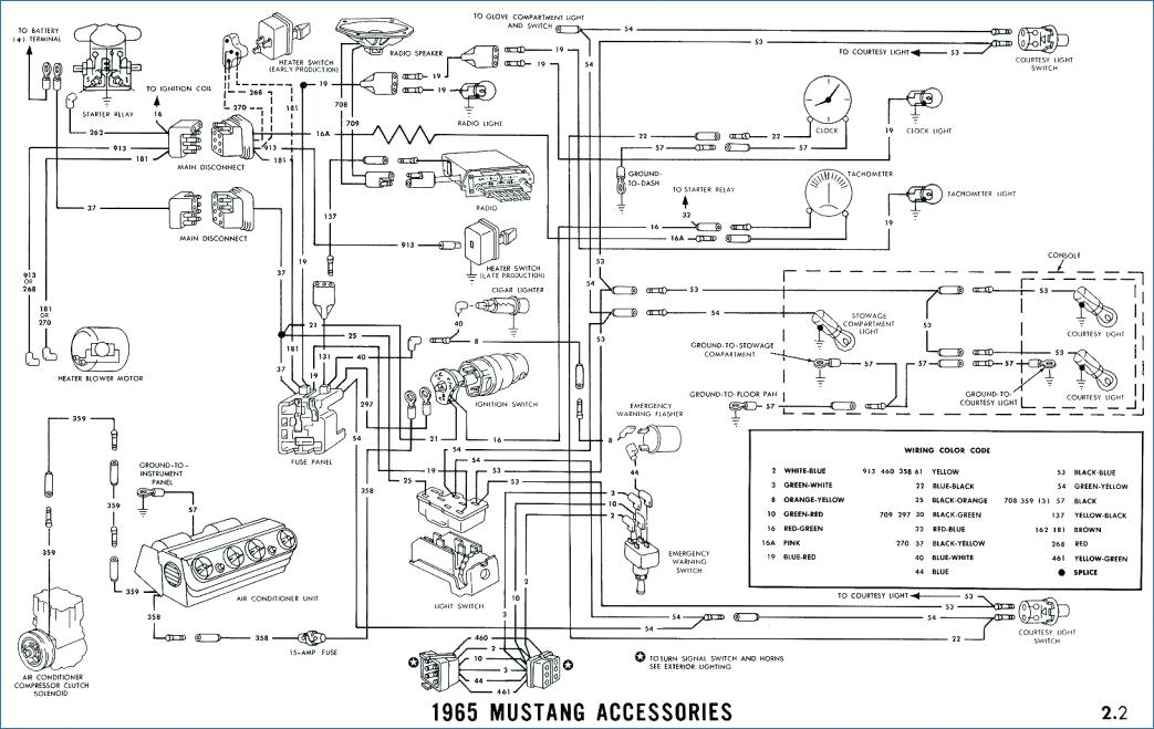 1965 mustang fuse box wiring diagram