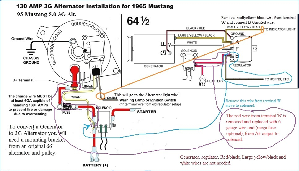 1966 Mustang Alternator Wiring Diagram