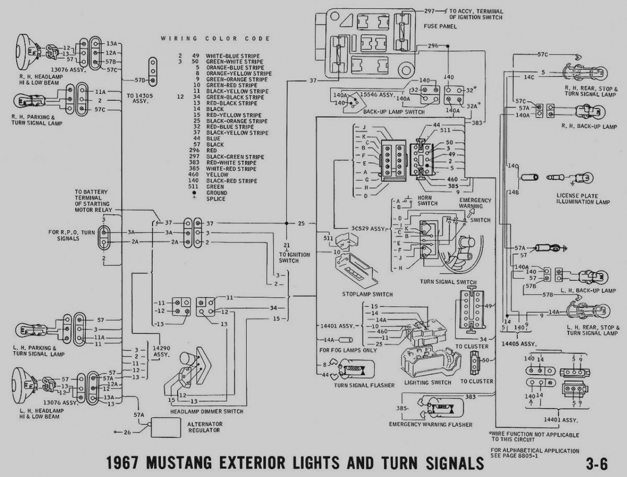 1967 mustang alternator wiring diagram sample