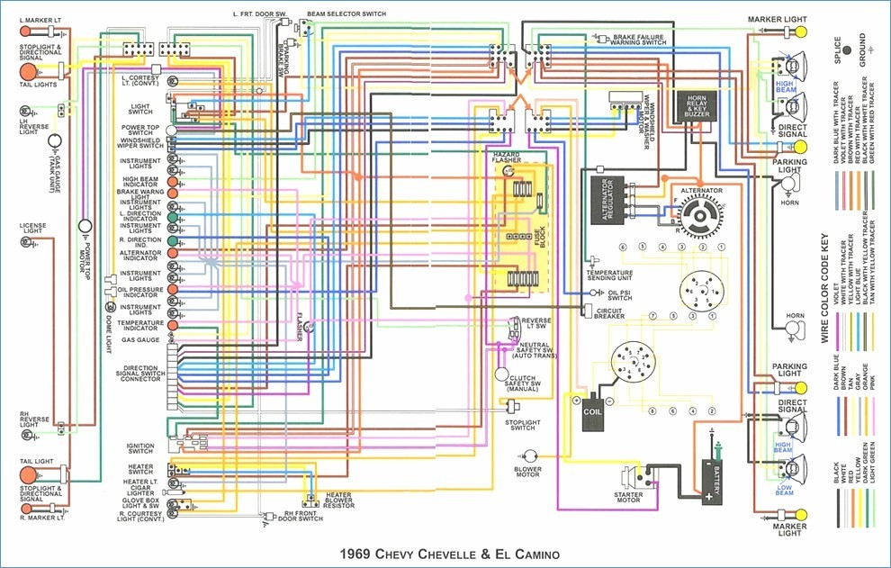 1969 chevelle wiring diagram Collection-Stunning 1970 Chevelle Wiring Diagram Gallery Everything You Need 2-l
