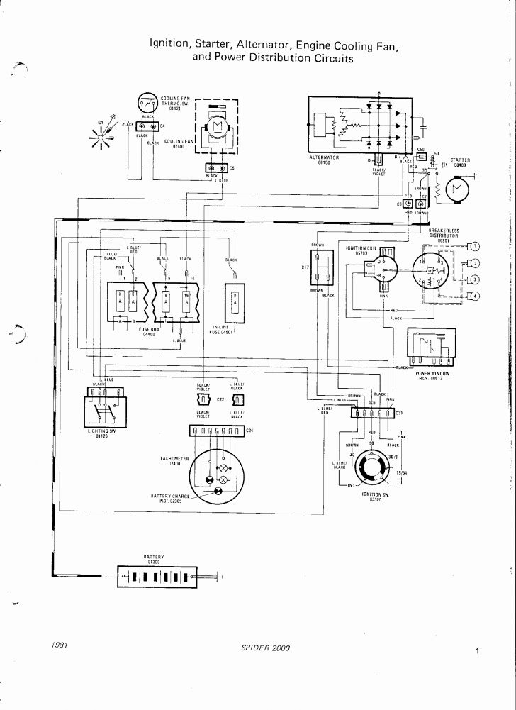 1976 fiat 124 spider wiring diagram  fiat  wiring diagrams