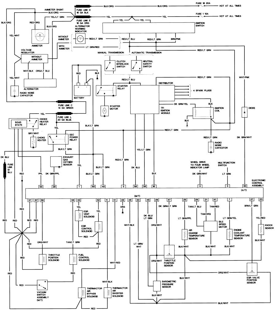 1987 ford f150 wiring diagram Download-Bronco II Wiring Diagrams 16-r