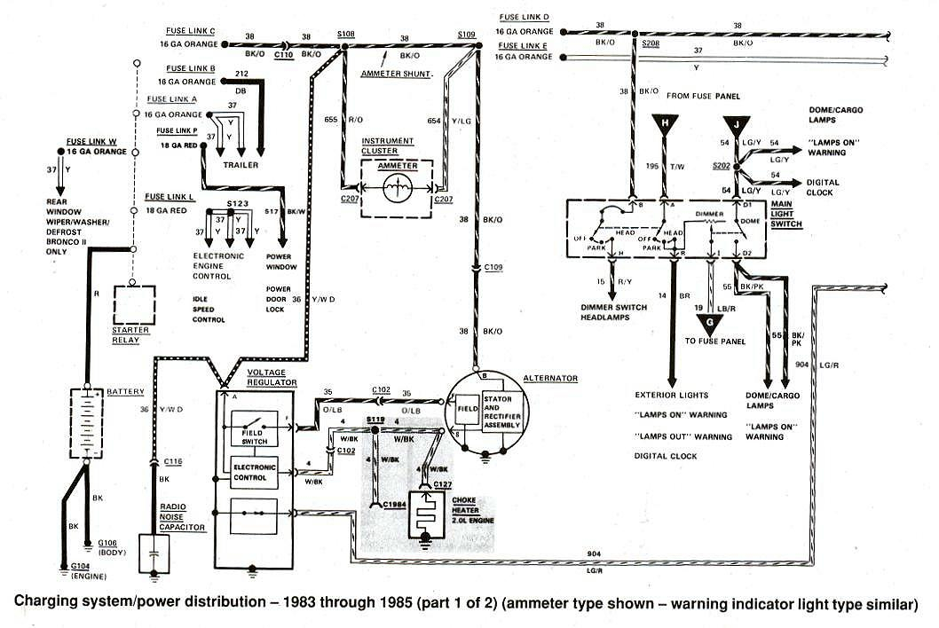 1987 ford f150 wiring diagram Download-Wiring Diagram – Charging System Charging System – 1984 1985 9-k