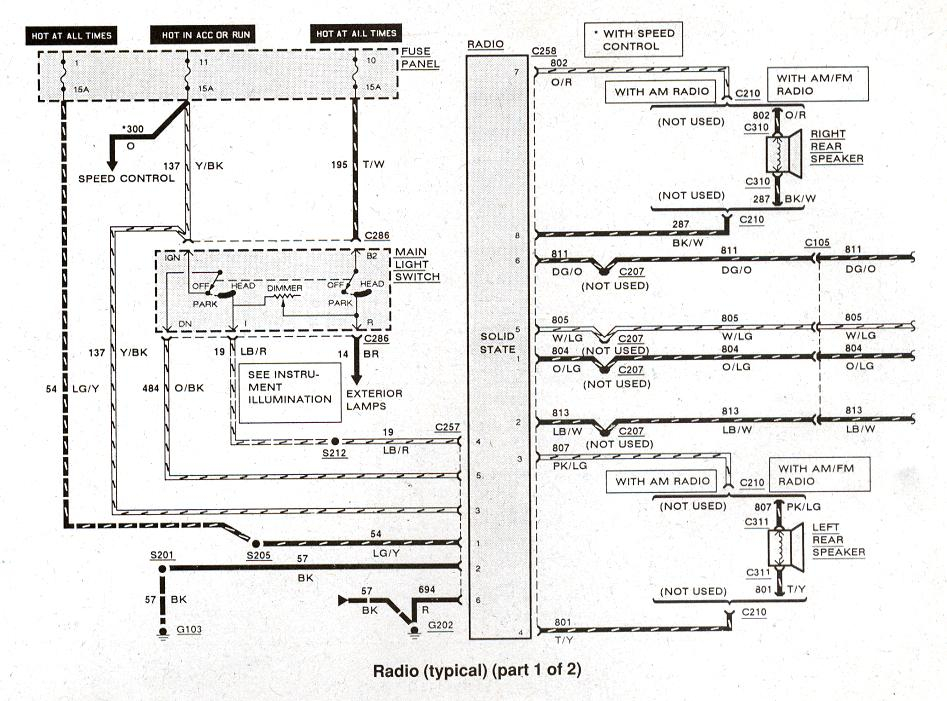 1988 ford f150 radio wiring diagram Collection-Radio Wiring Diagram – Typical 1 of 2 1-k
