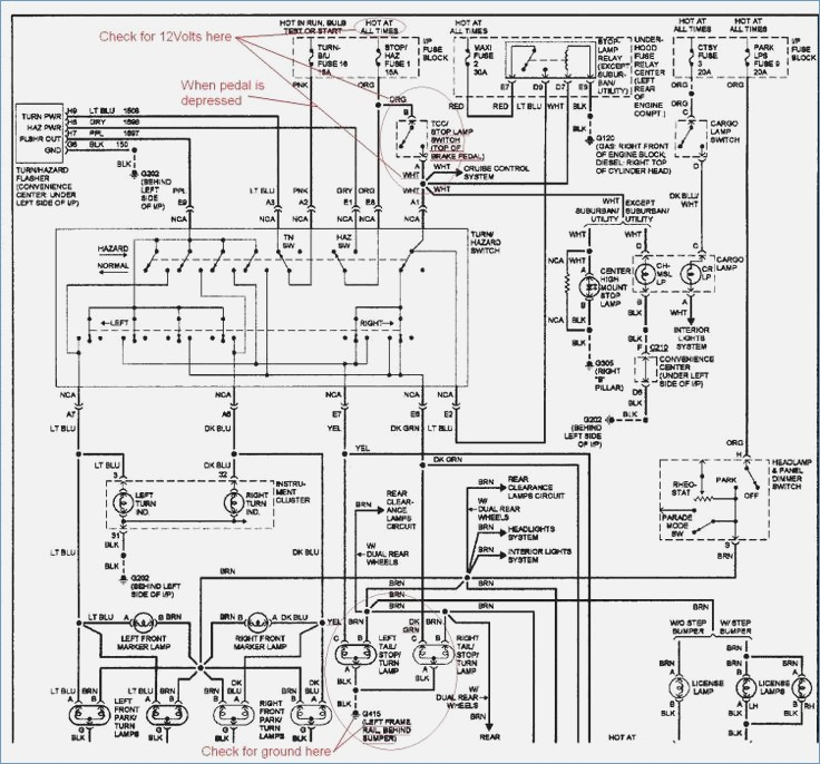 1988 chevy truck wiring diagram  u2022 wiring diagram for free Chevy Tail Light Wiring Colors Chevy Tail Light Wiring Colors