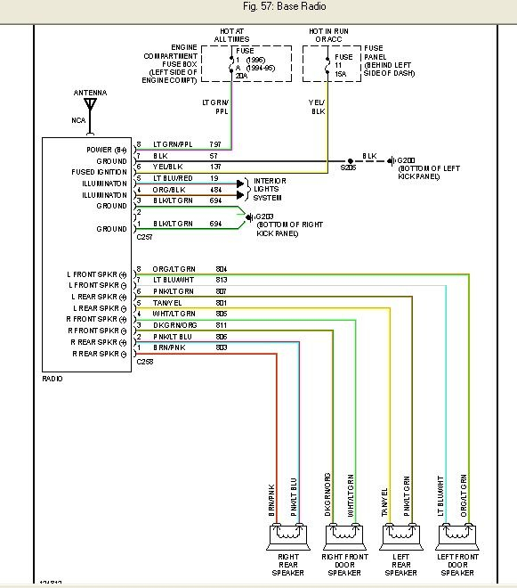 Radio Wiring Diagram For Ford F on