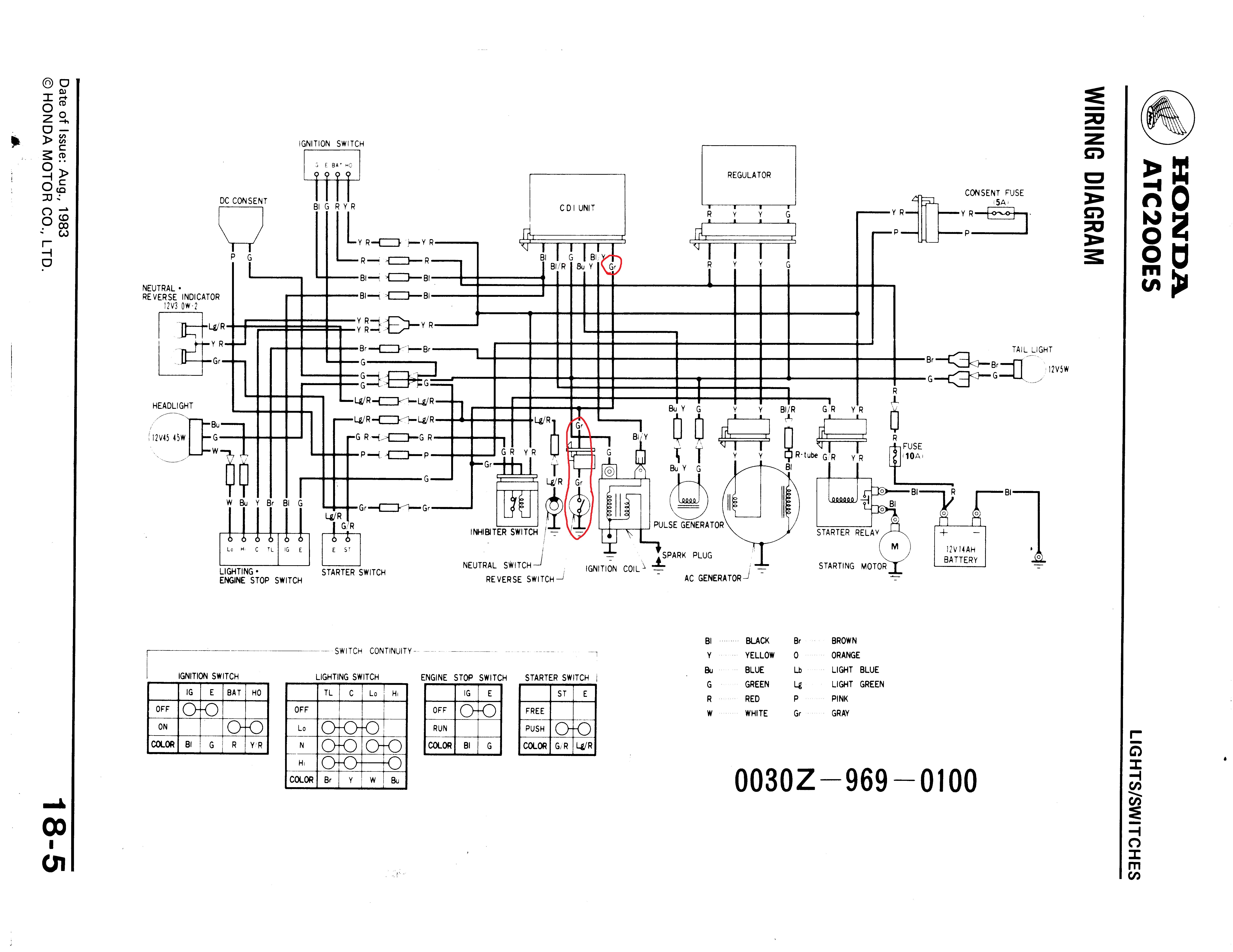 1998 honda fourtrax 300 wiring diagram Collection-Honda 300 Fourtrax Wiring 18-f
