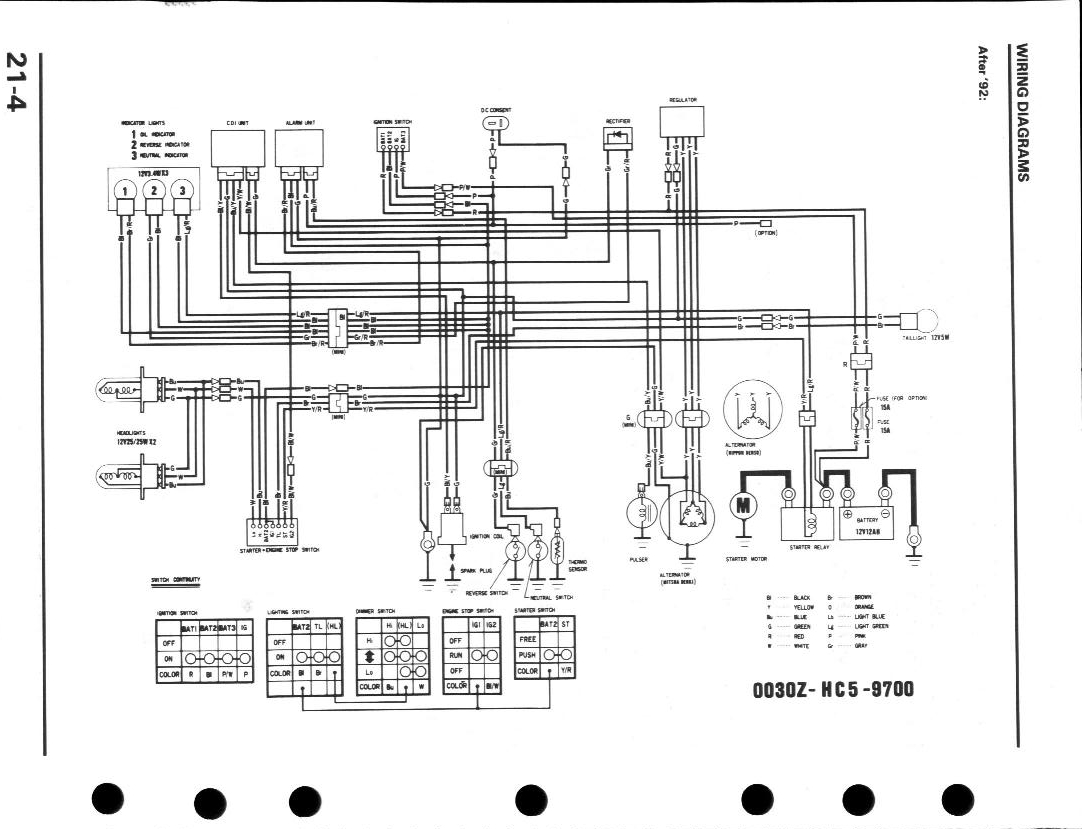 1998 honda fourtrax 300 wiring diagram Download-Honda 300 Fourtrax Wiring 19-k