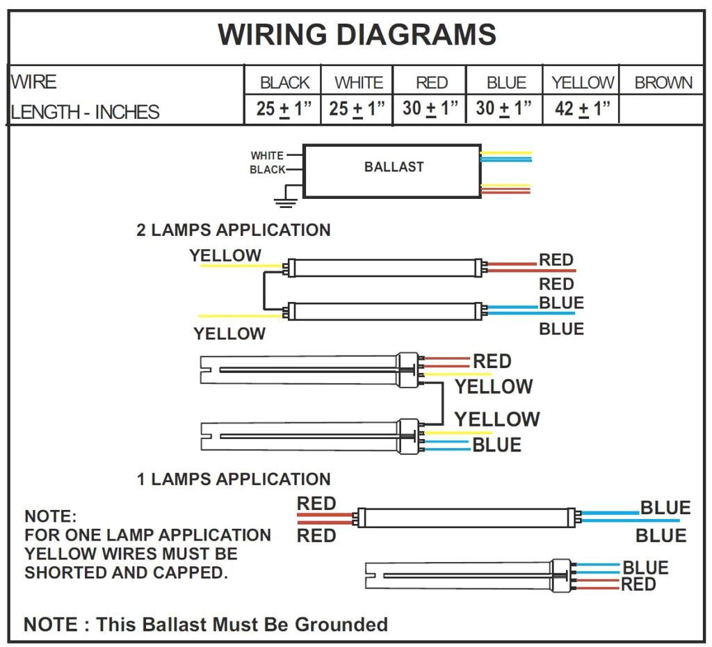 t12 ballast wiring diagram 1 lamp and 2 lamp t12ho magnetic rh dafpods co F96T12 Ballast Wiring Diagram Wiring-Diagram 2 Lamp T12 Magnetic Ballast to Electronic