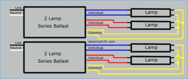ho ballast wiring diagram wiring diagrams schematics rh noppon co 6 Lamp T8 Ballast Wiring Diagram with Two 4 Lamp T8 Ballast Wiring