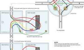 2 Way Switch Wiring Diagram - 3 Way Switching Wired to A Loop In Loop Out Radial Lighting Circuit 14a