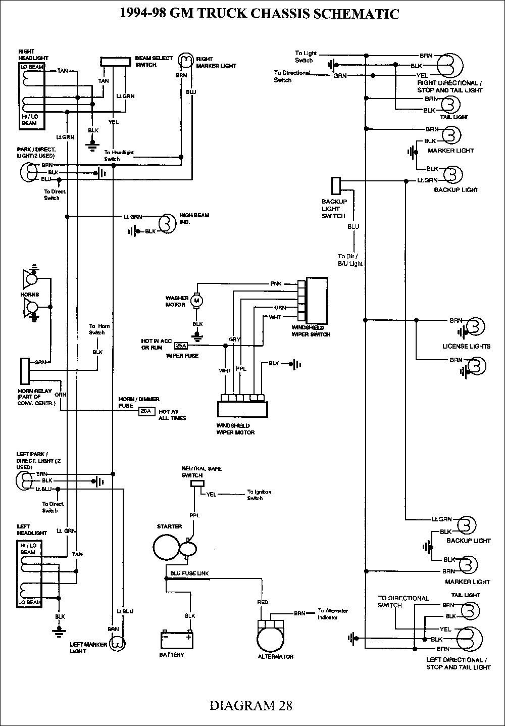 98 Gmc Truck Tail Light Wiring - Wiring Diagram •