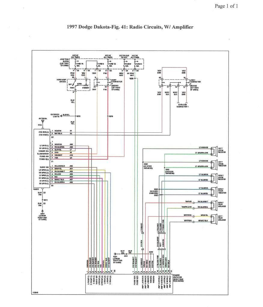 wiring diagram for 2000 dodge dakota wiring diagrams page 1998 Dodge Dakota Stereo Wiring Diagram