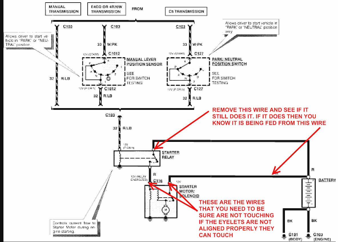 2000 ford f150 starter solenoid wiring diagram Download-50 best of images ford  f150 starter