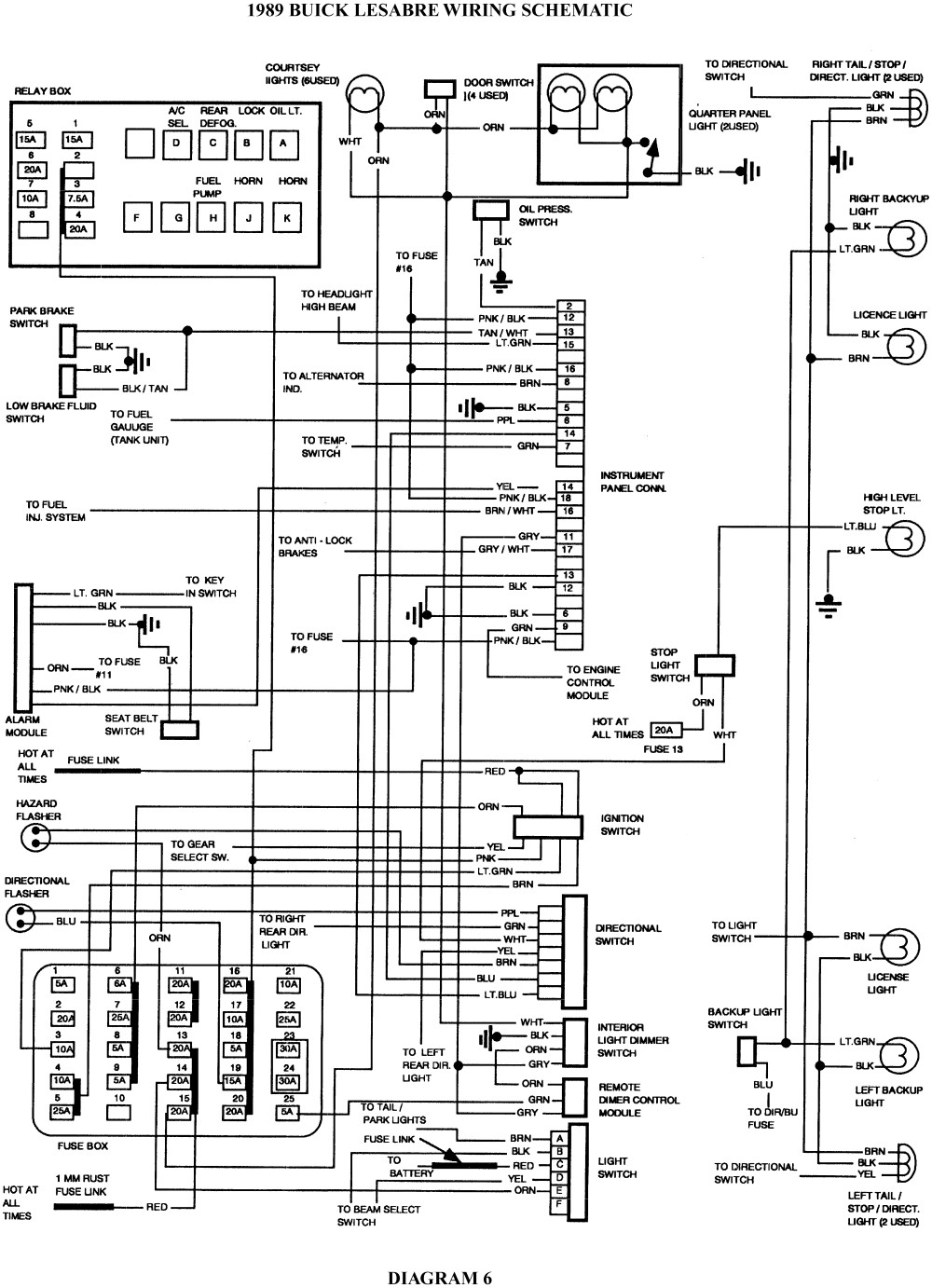 Electrical Wiring Diagrams For 1997 Buick Park Avenue 2001 Dodge Caravan Engine Diagram 2005 Acura Tsx Century Radio