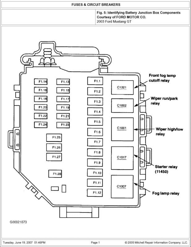 2001 ford mustang wiring diagram sample
