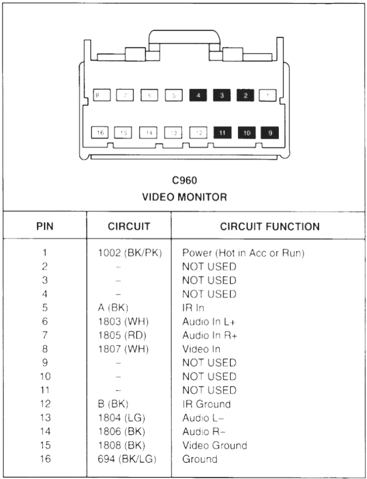 2001 Ford Mustang Wiring Diagram Sample Pin