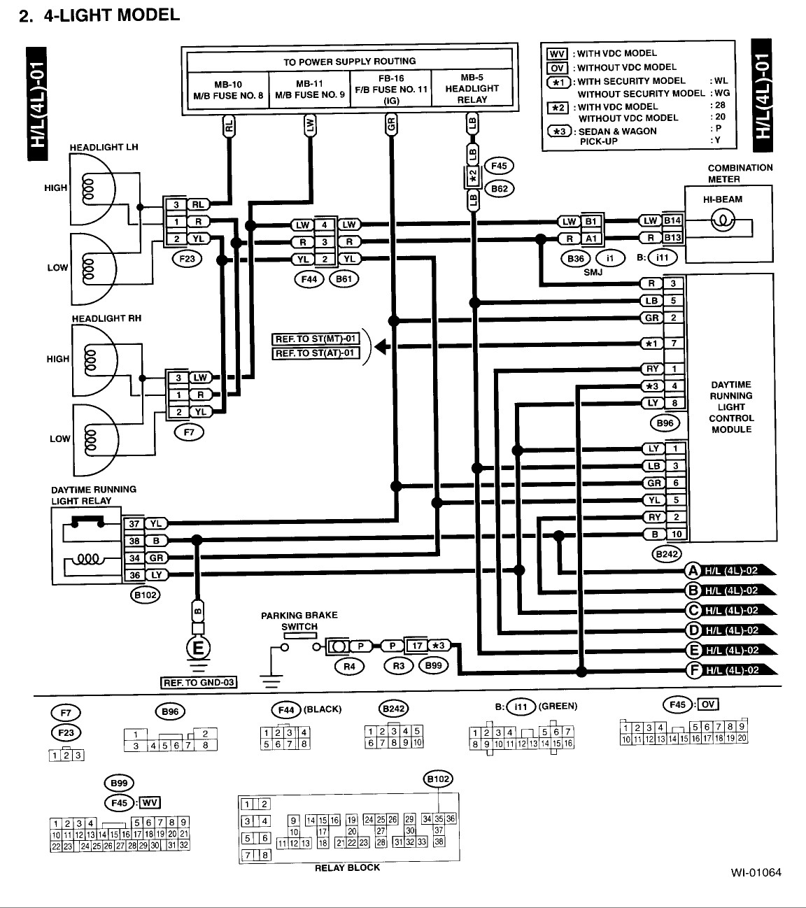 2001 subaru outback radio wiring diagram collection