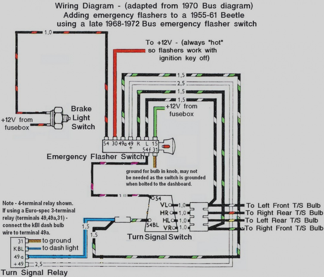 1972 Vw Bug Turn Signal Wiring - Circuit Diagram Symbols •