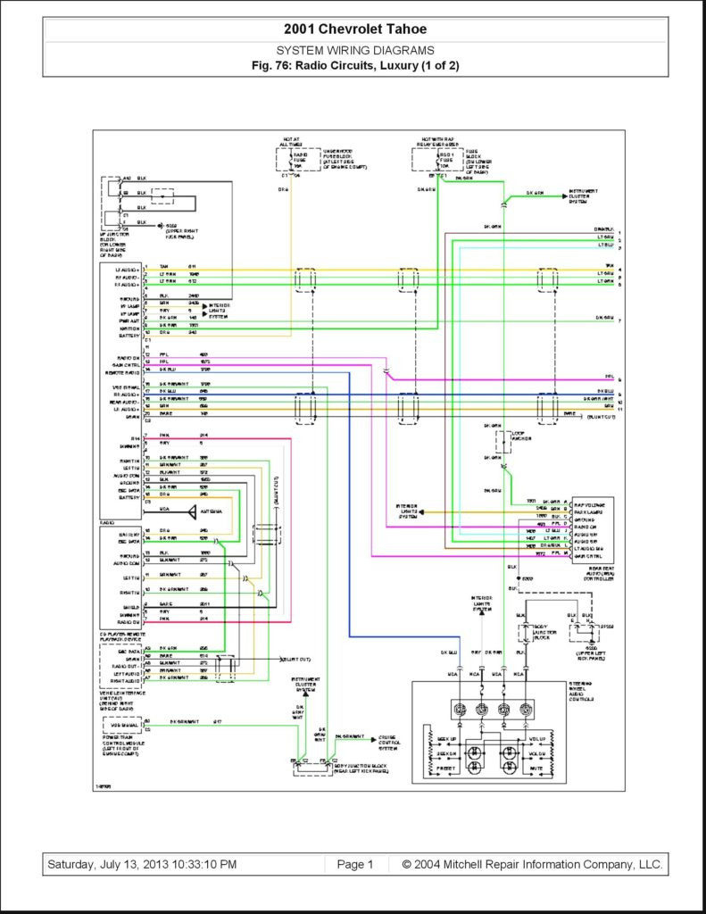 2002 chevy silverado trailer wiring diagram Download-2001 Chevy Impala  Radio Wiring Diagram And fe1