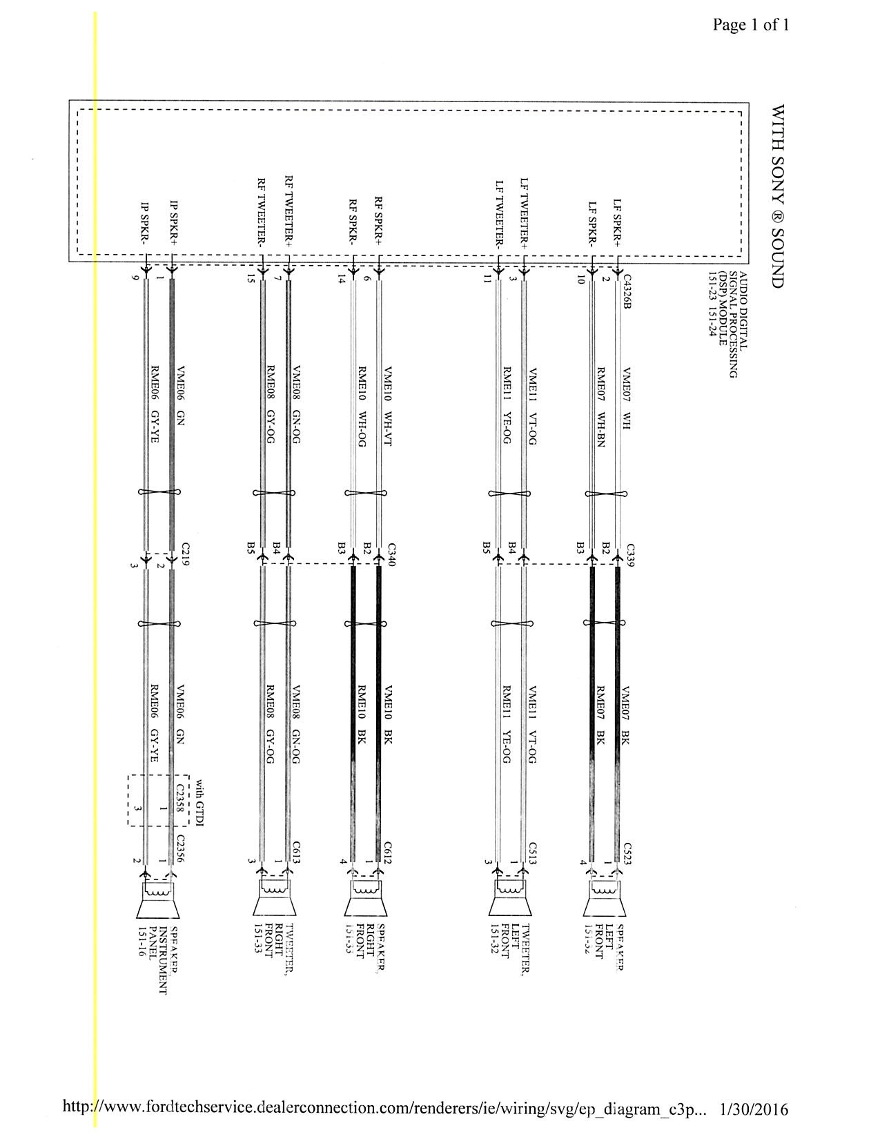 2003 ford focus radio wiring diagram Download-2003 Ford Focus Radio Wiring Diagram 16-a