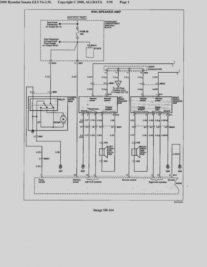 2003 Hyundai sonata Radio Wiring Diagram Sample Wiring