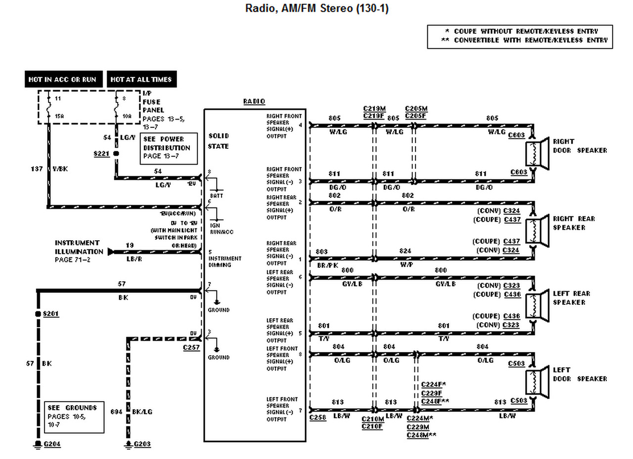 2003 mustang radio wiring diagram Collection-2003 2004 Mustang Cobra Charging System Exceptional 2001 Wiring Inside Ford Radio Diagram 7-a