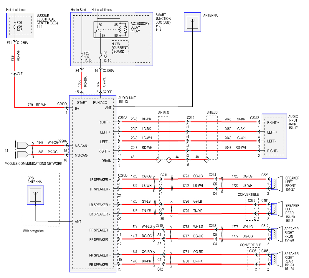 2003 mustang radio wiring diagram Collection-2016 ford Fusion Radio Wiring Diagram Inspirational Wonderful ford Fusion C9012 Wiring Diagram Gallery Best Image 16-f