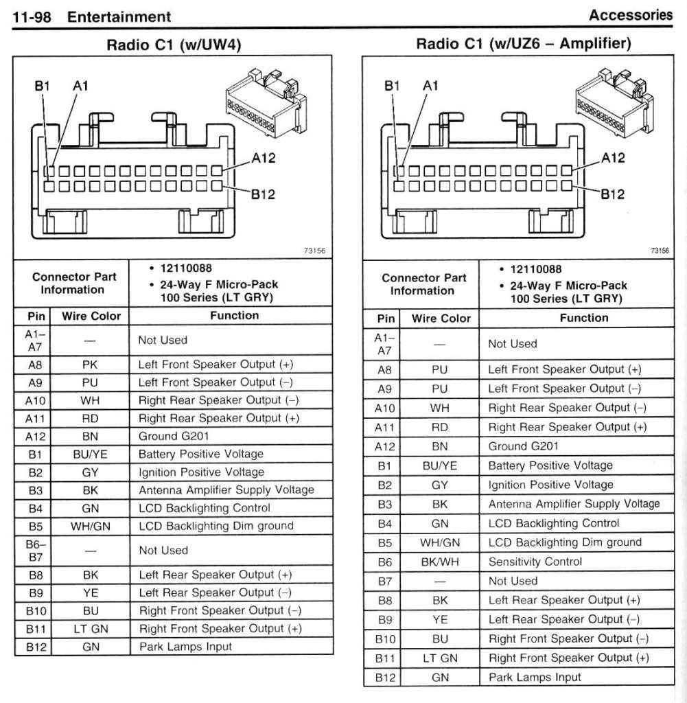 2003 silverado bose radio wiring diagram Download-2003 Chevy Silverado  Radio Wiring Diagram And Illustration