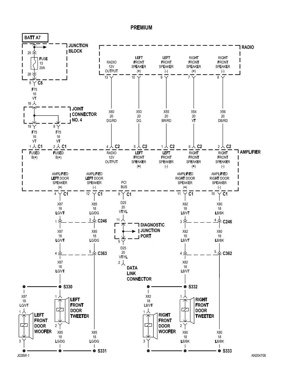 2004 dodge dakota radio wiring diagram Collection-Labeled 2004 dodge durango radio wiring diagram 14-e
