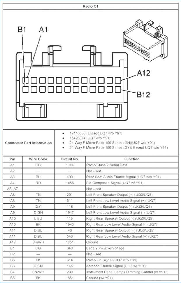 2004 silverado bose radio wiring diagram Collection- 4-g