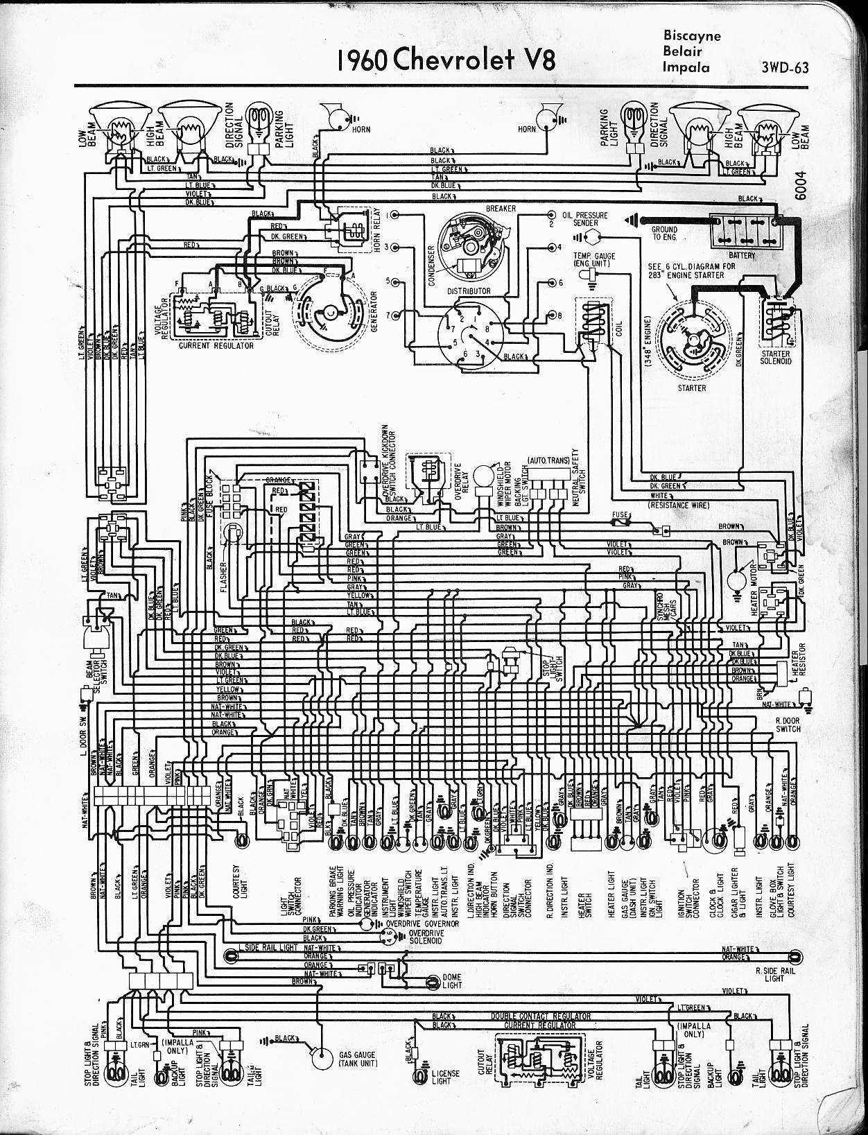 2005 chevy impala wiring diagram Download-1960 V8 Biscayne Belair Impala 6-t