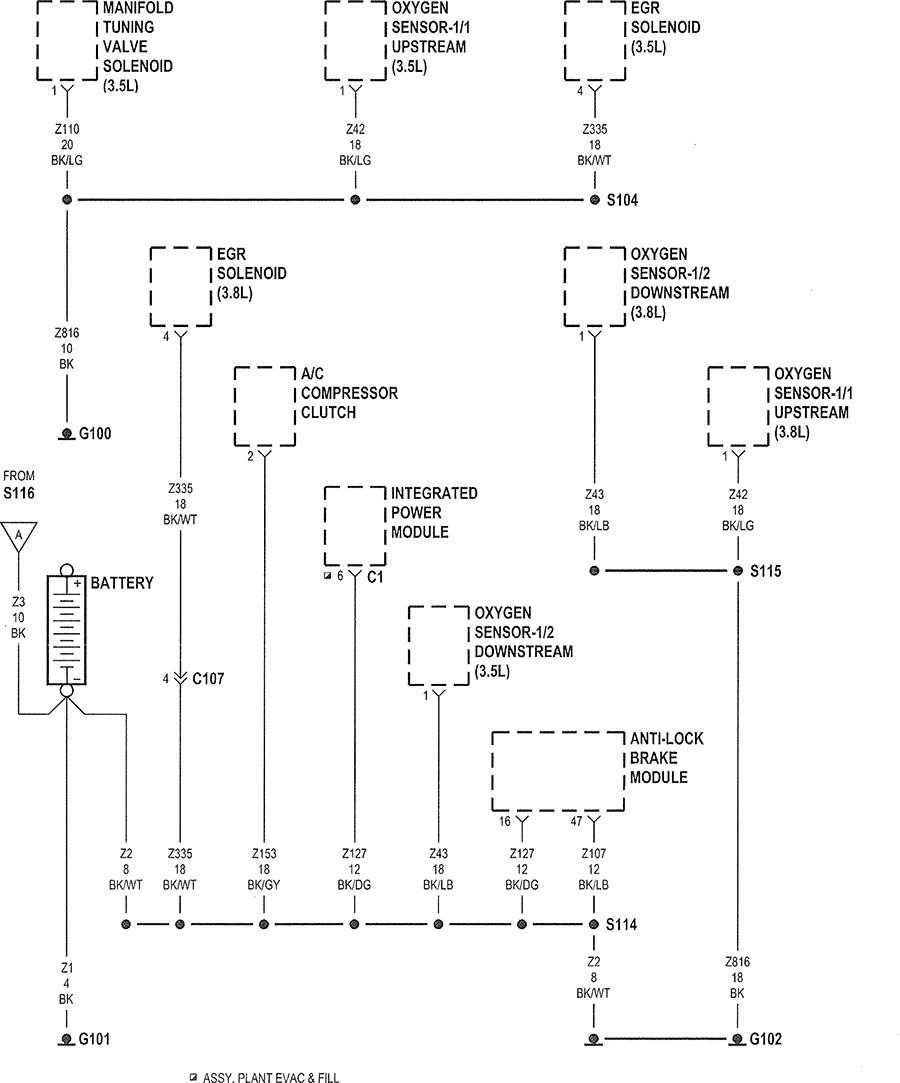 2007 chrysler sebring wiring diagram Download-2007 Chrysler Pacifica Wiring Diagram The 2 Oxygen Sensor 3 5l V6 In Pt 5-q