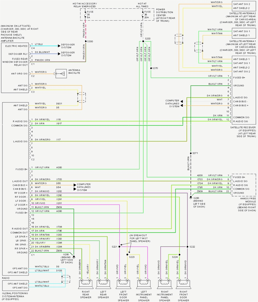 2005 Chrysler 300 Radio Wiring Harness : Chrysler radio wiring diagram sample