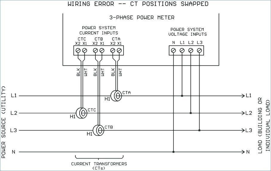 3 Phase Current Transformer Wiring Diagram Sample
