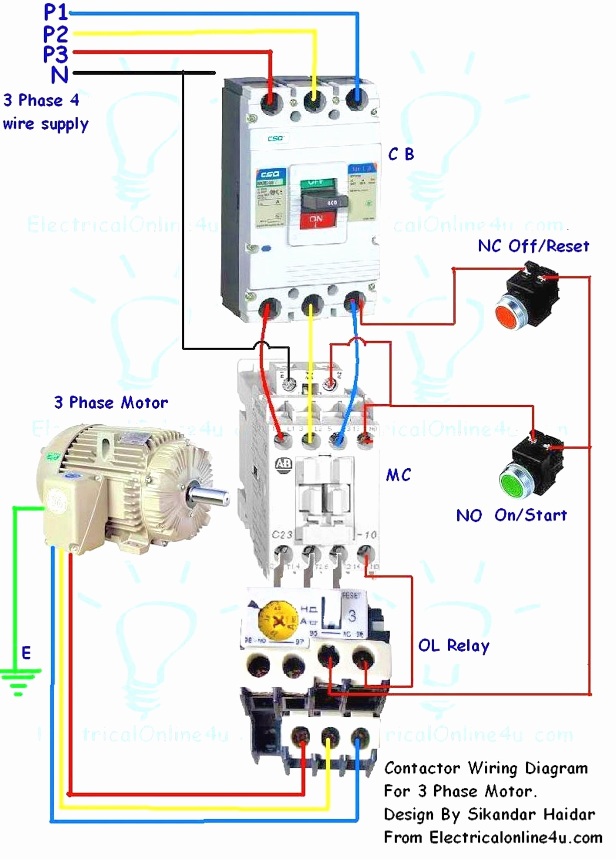 3 phase motor contactor wiring diagram Download-Full Size of Wiring Diagram Three Phase Electrical Wiring Diagram Luxury No Nc Contactor Wiring 11-j