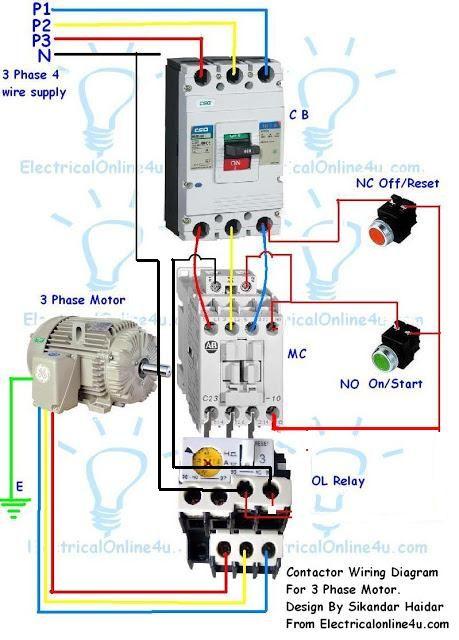 3 phase motor starter wiring diagram Download-contactor wiring diagram for three phase motor 20-i