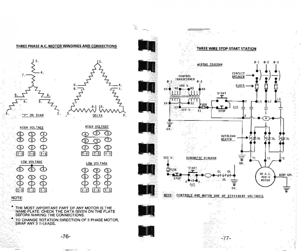 3 Phase Motor Wiring Diagram 9 Leads Gallery Wiring