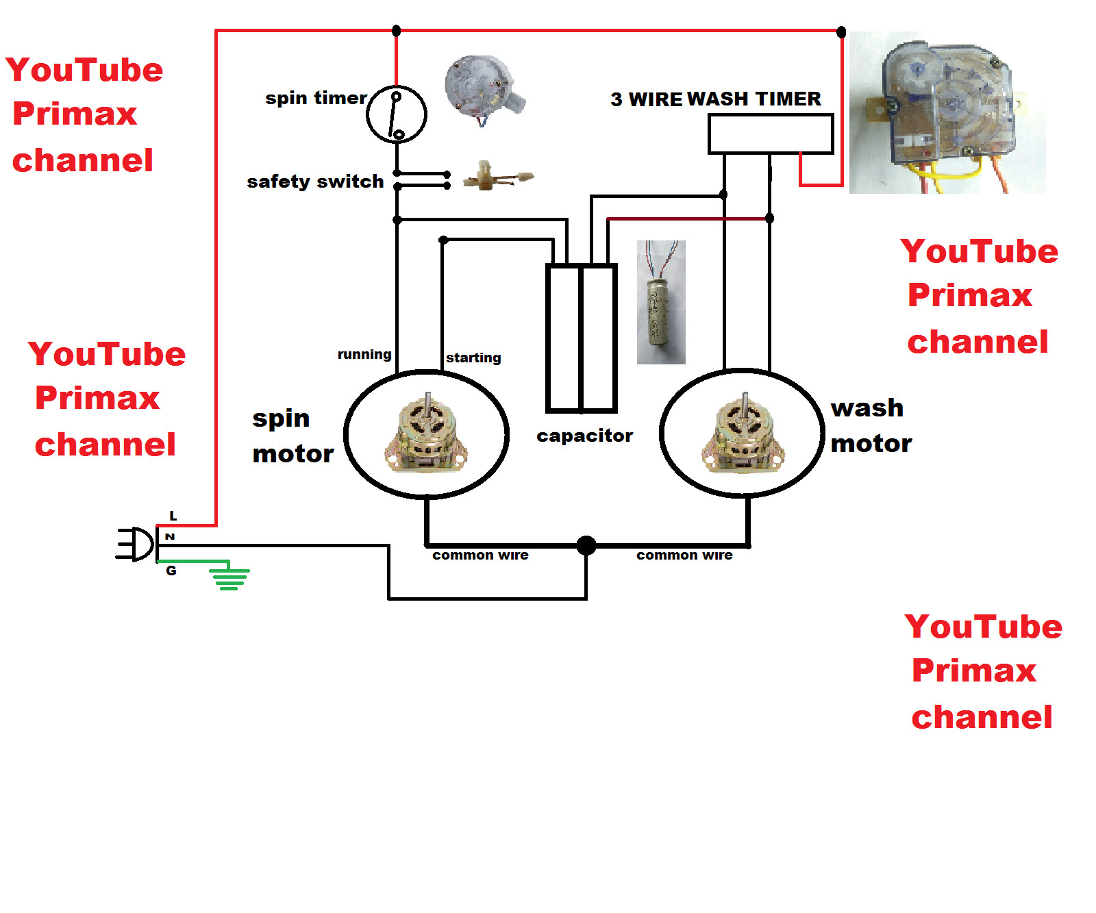 3 wire washing machine motor wiring diagram Collection-3 Wier Timer Diagram Connection Simple Washing Machine Wiring Tearing 7-d