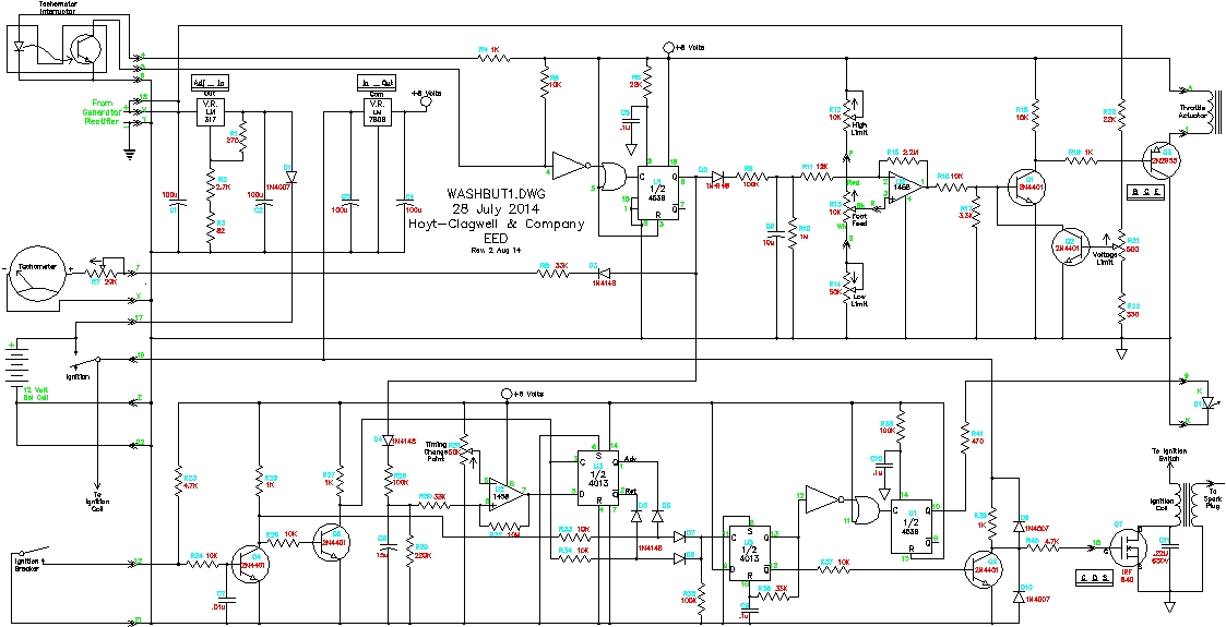 3 wire washing machine motor wiring diagram Collection-The working schematic Revised 2 Autust 2014 7-l