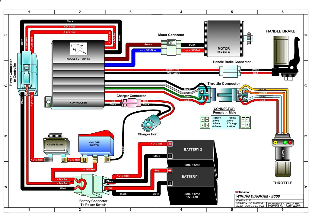 36 Volt Electric Scooter Wiring Diagram Gallery