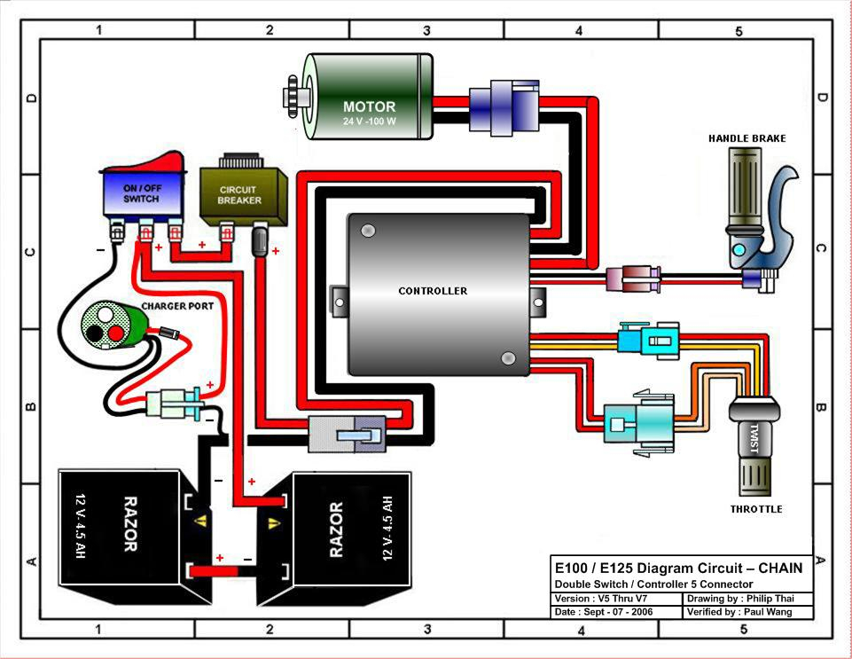 36 Volt Electric Scooter Wiring Diagram Gallery   Wiring
